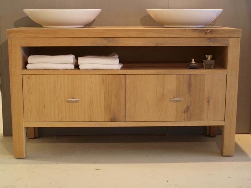 Badkamer Meubel Landelijk : Badkamermeubel belezza eiken wood4 badkamermeubels & accessoires