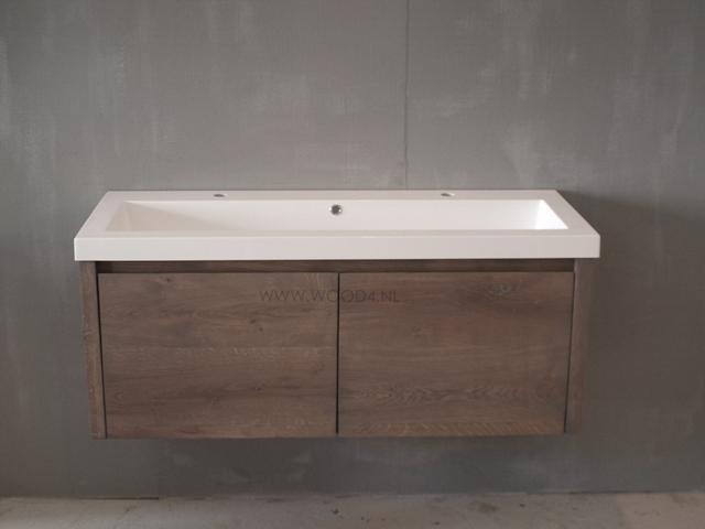 Goedkope Badkamer Meubel : Badkamermeubel bella vita eiken wood badkamermeubels