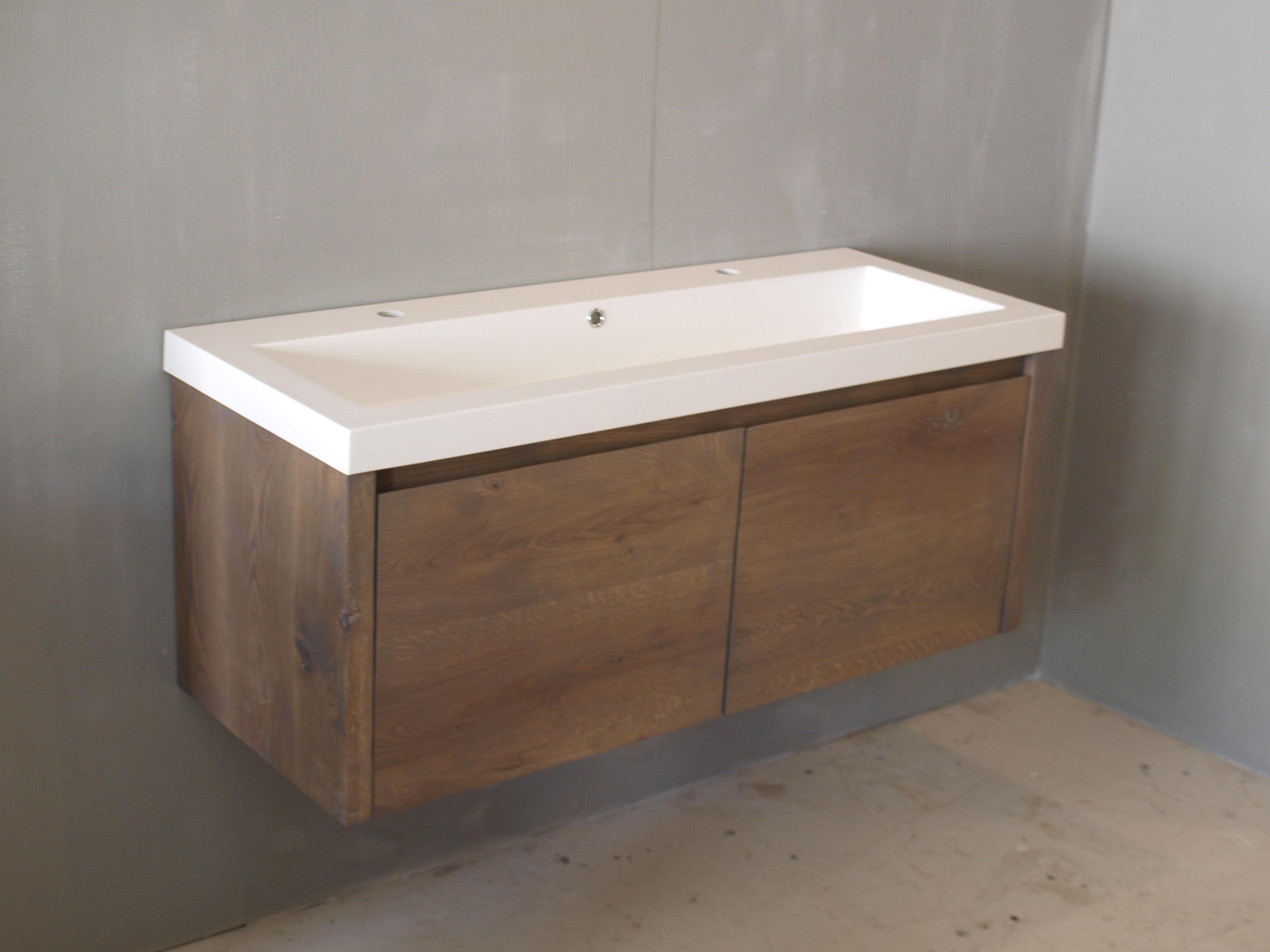 Badkamermeubel bella vita eiken 120 wood4 badkamermeubels accessoires - Moderne badkamer meubels ...