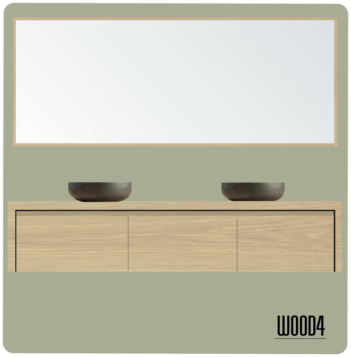 liv badkamermeubel 3 lades wood4 badkamermeubels accessoires