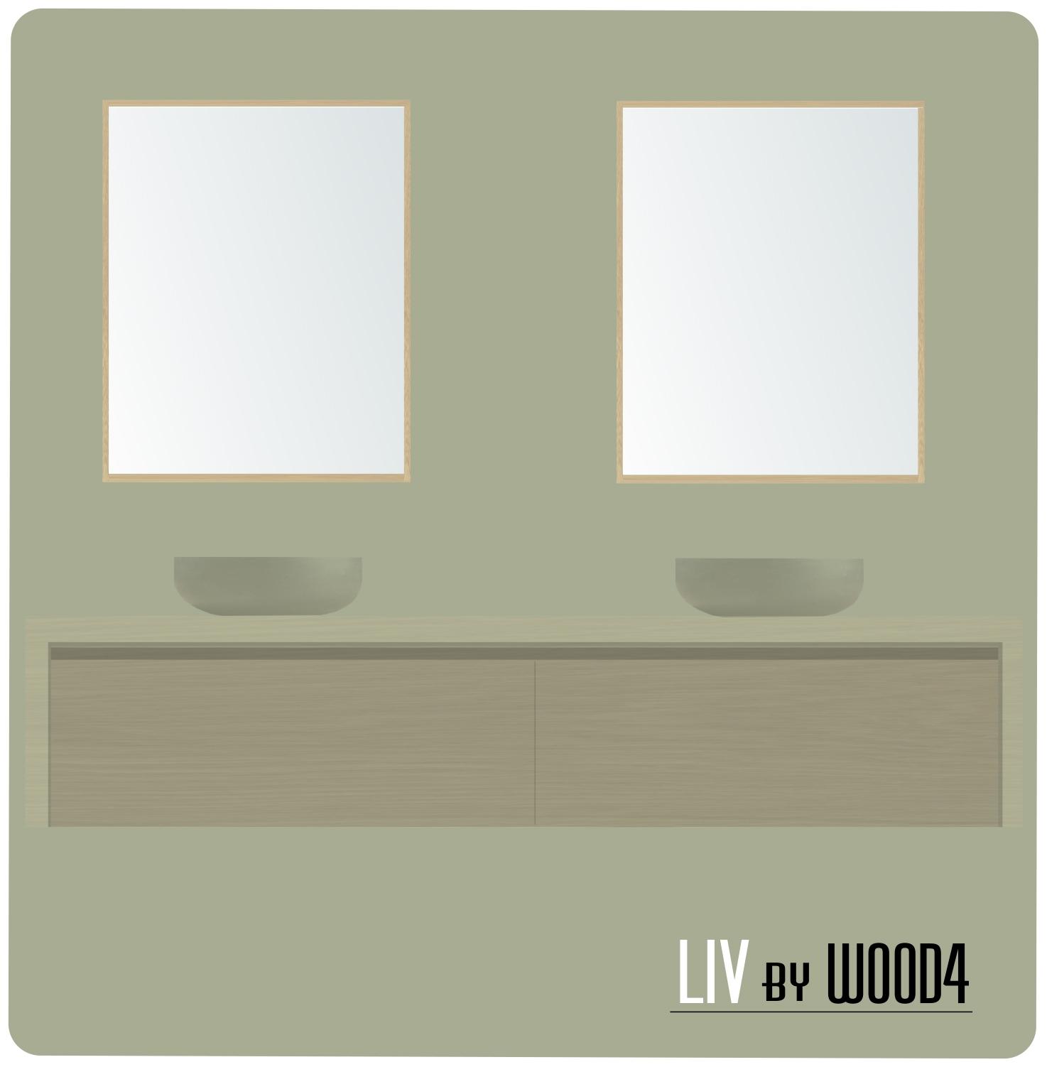 LIV L formaat spiegel eiken